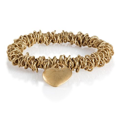Pave Gold Tone Amour Bracelet