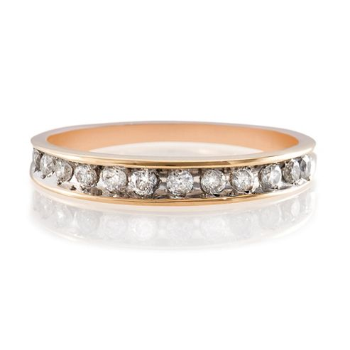 9ct Gold 25Pt Diamond Eternity Ring, L