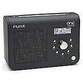 Pure One Classic Portable DAB/FM Radio - Black.