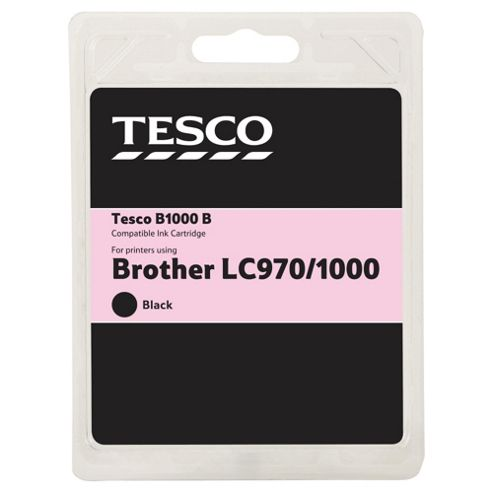 Tesco B35 Black Printer Ink Cartridge (Compatible with printers using Brother LC1000 BK Cartridge)