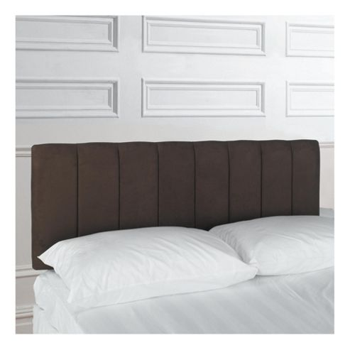 Haddon King Faux Suede Headboard, Chocolate