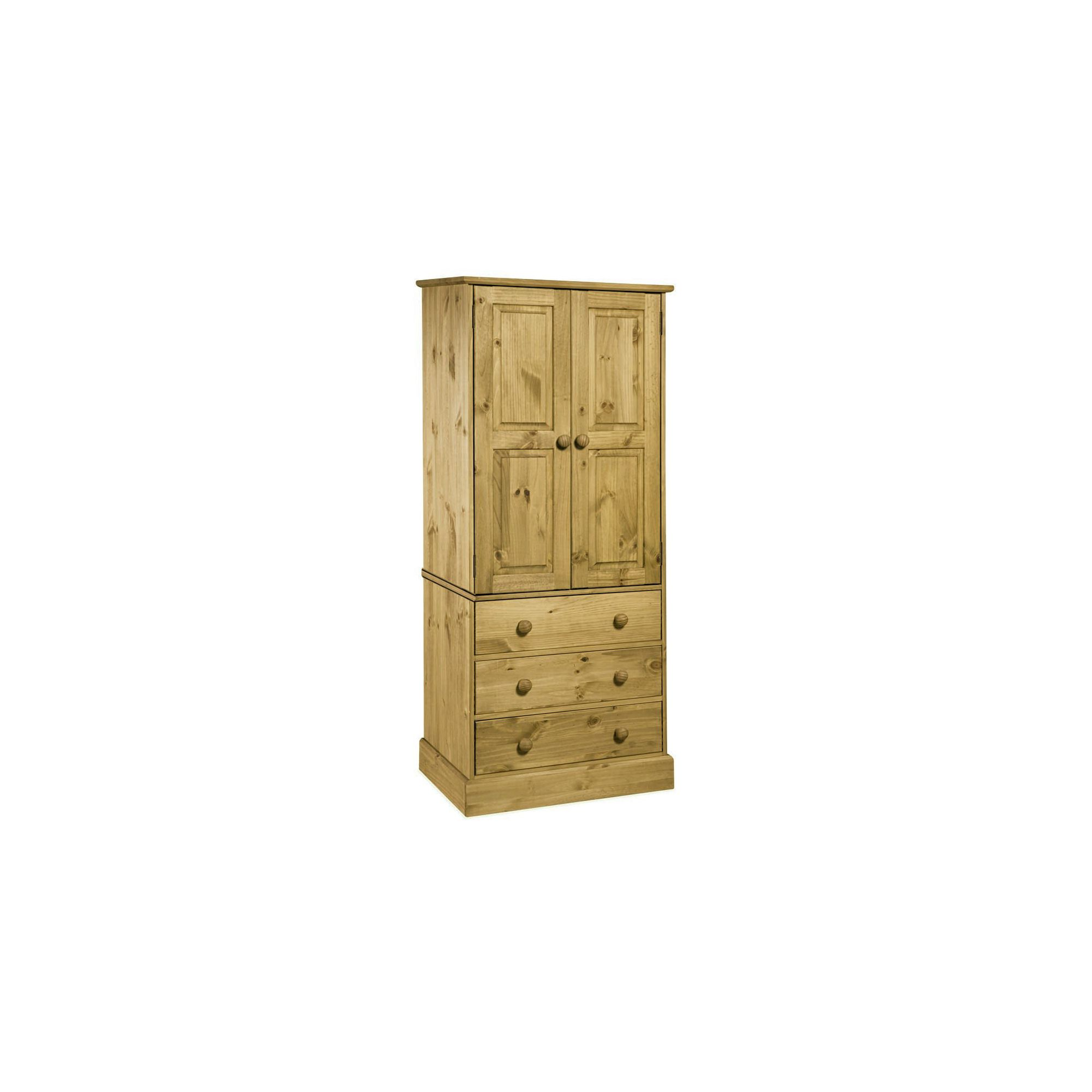 Home Essence Warwick 3 Drawer Wardrobe in Solid Pine at Tesco Direct