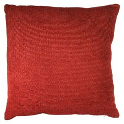 F&F Home Plain Chenille Cushion, Berry