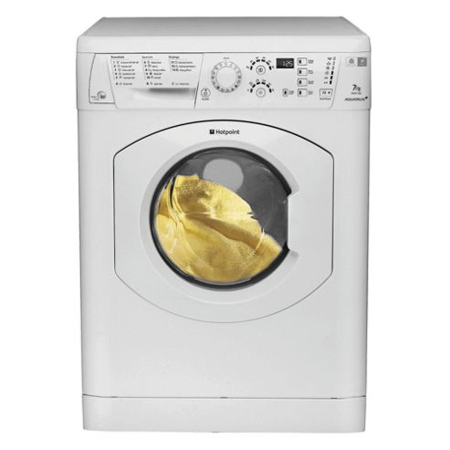 Hotpoint WDF740P Washer Dryer, 7Kg Wash Load, 1400 RPM Spin, B Energy Rating, White