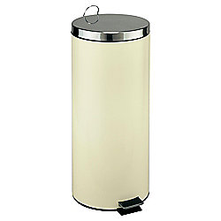 30L Kitchen Pedal Bin - Cream - Stainless Steel Finish