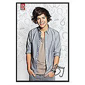 Gloss Black Framed One Direction Harry Styles Poster