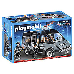 Playmobil 6043 City Action Police Van with 2 Policemen