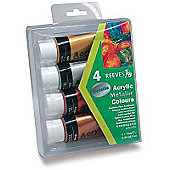 Reeves Acrylic Metallic Paints