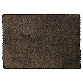 Tesco Rugs Extra Thick Shaggy Rug, Chocolate 120X170Cm