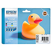 Epson T0556 Black & Colour Printer Ink Cartridge Multipack