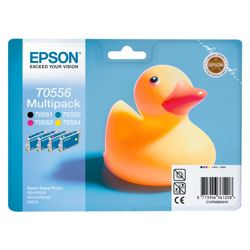 Epson T0556 Black & Colour Printer Ink Cartridge Multipack (Contains T0551, T0552, T0553, T0554 cartridges)