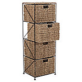 Tesco Seagrass Large 4 Drawer Tower