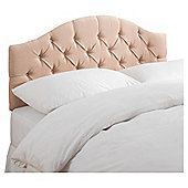 Seetall Sandon Headboard Champagne Velour Single