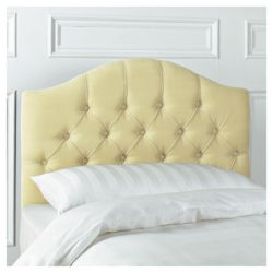 Sandon Single Velour Headboard, Champagne