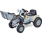 Caretero Battery Operated Ride-On Bulldozer (Grey)