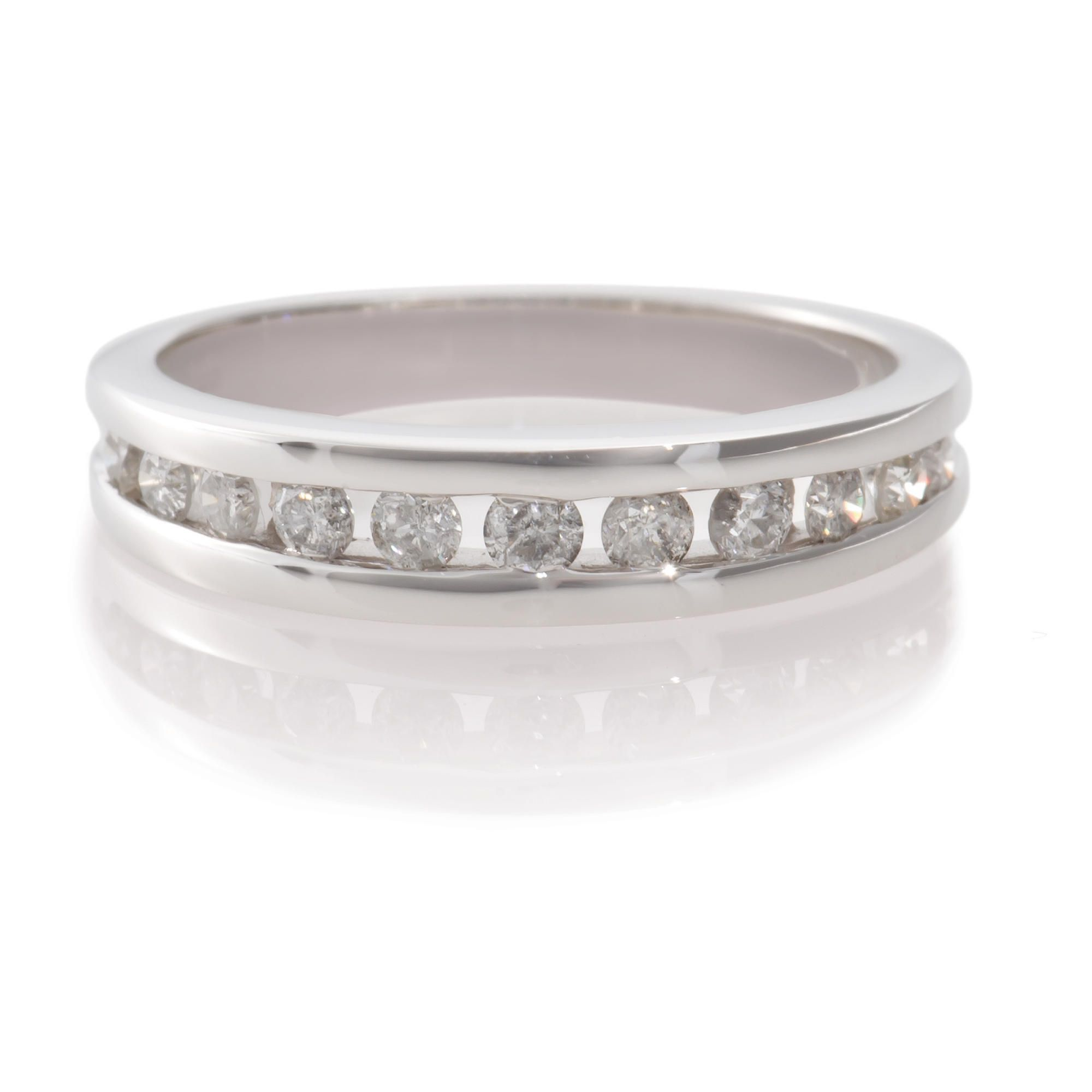9ct White Gold 1/2ct Diamond Eternity Ring, N at Tesco Direct