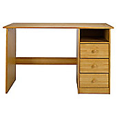 Vermont 3 Drawer Desk, Antique Pine
