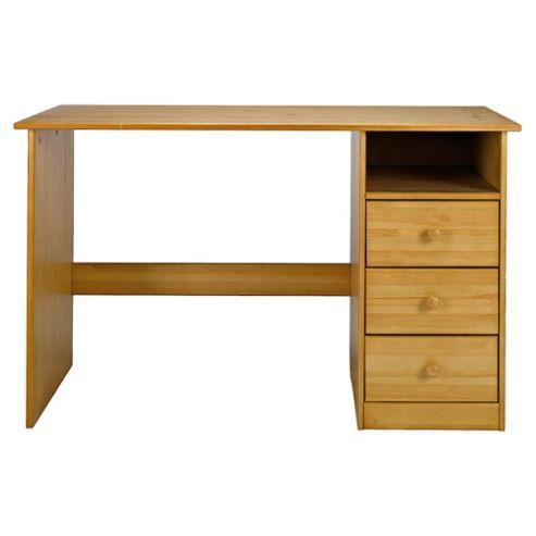 Vermont 3 Drawer Desk, Antique Pine