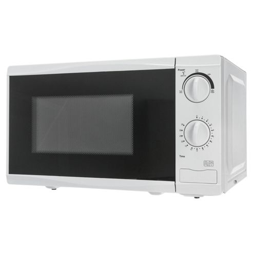 Tesco MM08 Value 17L Solo Microwave, Black and White