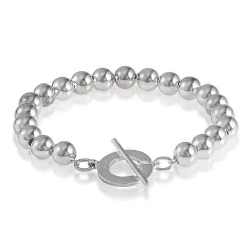 Sterling Silver 8mm Bead Bracelet.