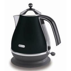 DeLonghi Icona KBO3001 Stainless Steel Kettle - Black