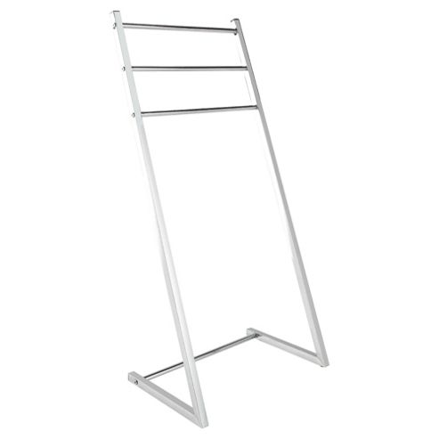 Lincoln Square Tube Chrome Towel Stand