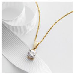 9ct Gold 1/2ct Diamond Solitaire Pendant