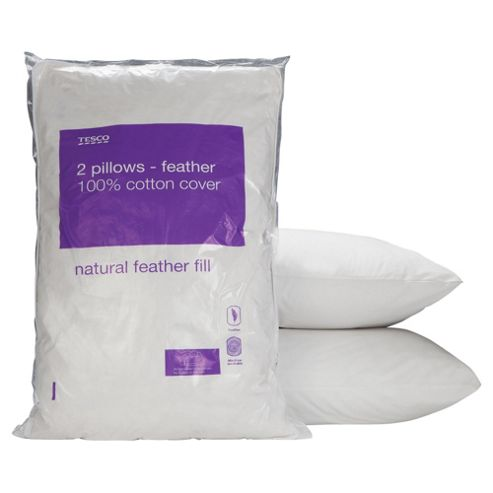 Tesco Feather Pillows - 2 Pack