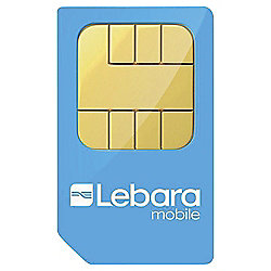 Lebara Tri-SIM £10 Pre-loaded