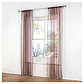 "Tesco Plain Voile Channel Top W137xL229cm (54x90""), Chocolate"