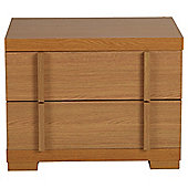 Brandon Bedside Table, Oak Effect