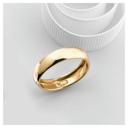 9ct Gold 5mm Wedding Band, R