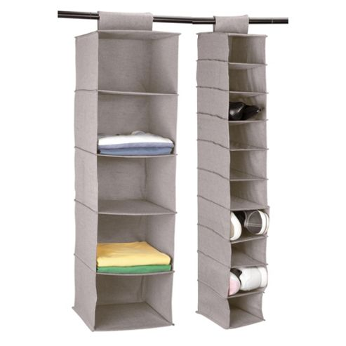 Tesco Recycled Fabric Clothes And Shoe Shelves Set