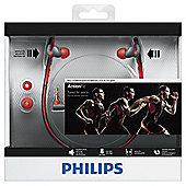 Philips SHQ4200 Sports neck band Headphones - Red