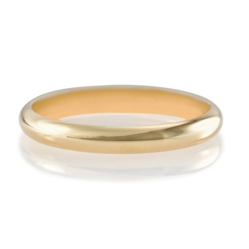9ct Gold 2mm Wedding Band, M