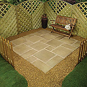 Lincoln Weathered Bronze Square Random Patio Kit