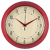Tesco Clocks Retro Clock, Red