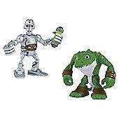 Teenage Mutant Ninja Turtles Pre-Cool Half Shell Heroes Kraang and Leatherhead Figures
