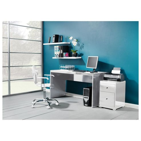 Buy viva high gloss office desk white from our office desks tables range - Tesco office desk ...