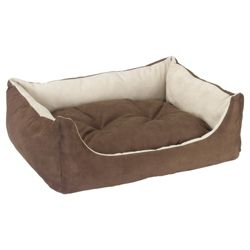 Suedette dog bed