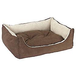 Suedette dog bed