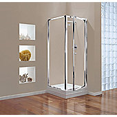 Coram Showers GB Pivot Door in Chrome with Plain Glass - 80cm