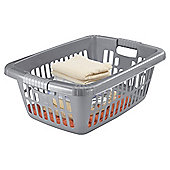 Tesco 40L Laundry Basket - Grey
