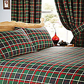 McMusbury Pair Tartan Lined Curtains with Tie backs 168cm wide x 183cm drop (66x72 inches)