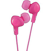 "JVC HAFX5/PINK ""GUMY PLUS"" Ear Bud Headphones - Peach Pink"