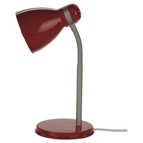 Tesco Lighting Metal Desk Lamp Red