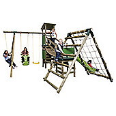Little Tikes Marlow Bridge Climb 'n' Slide Wooden Swing Set