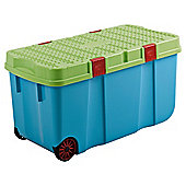 Whatmore 100L Litre Tuff Cart Plastic Storage Box, Blue
