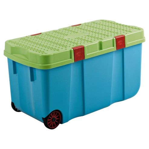 Whatmore 100L Plastic Storage Tough Crate, Blue