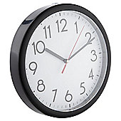 Tesco Basics Wall Clock, Black